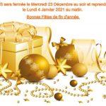 Congés et fêtes de fin d'année